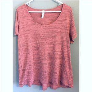 LuLaRoe Heathered Dusty Coral Classic Tee Tshirt